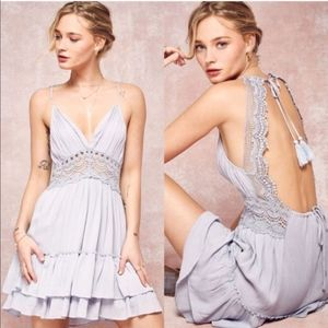 CASSIE Backless Crochet Mini Dress